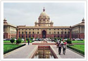 The North Block, in New Delhi, houses key government offices.
